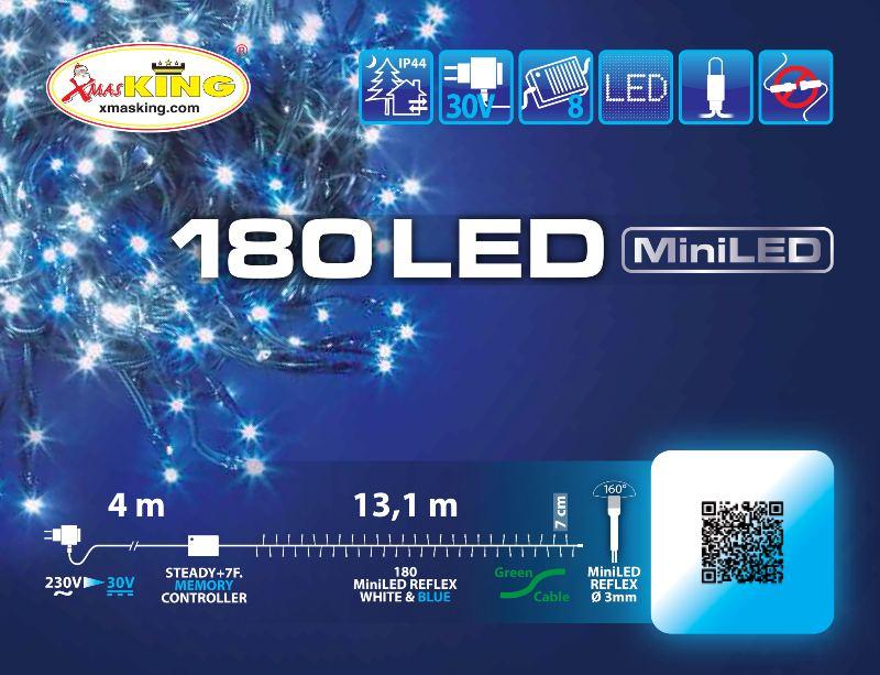 Lotti 35898 Catena Tlg 180 Miniled Bianco Blu 3mm Controller 8g